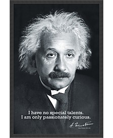 Amanti Art Einstein Curiosity- Framed Art Print