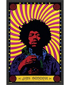 Jimi Hendrix - Psychedelic- Framed Art Print