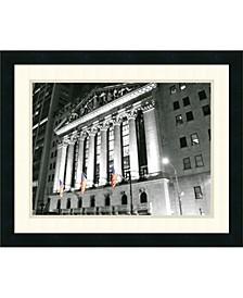 New York Stock Exchange At Night  Framed Art Print