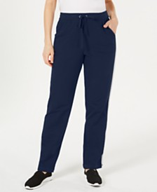 Karen Scott Colorblocked Stripe Pull-On Pants, Created for Macy's