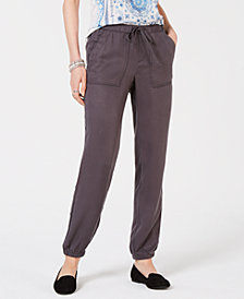 Style & Co Button-Detail Cargo Jogger Pants, Created for Macy's