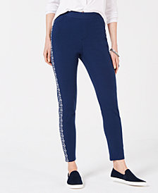Style & Co Embroidered Leggings, Created for Macy's