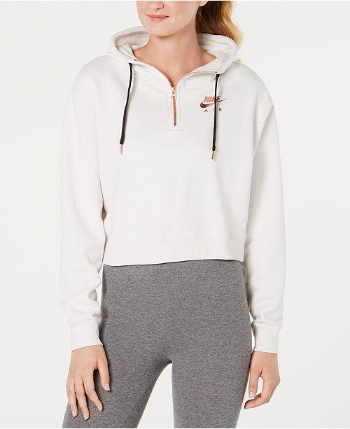 15ddeb71cde Nike Sportswear Fleece Metallic-Logo Half-Zip Hoodie   Reviews ...