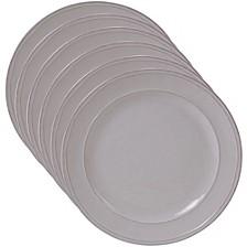 Orbit Solid Color - Cream 6-Pc. Salad Plate