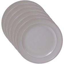 Certified International Orbit Solid Color - Cream 6-Pc. Salad Plate