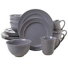Orbit Solid Color - Grey 16-Pc. Dinnerware Set