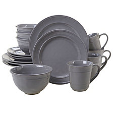 Certified International Orbit Solid Color - Grey 16-Pc. Dinnerware Set