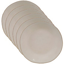 Certified International Harmony Solid Color - Cream 6-Pc. Salad Plate