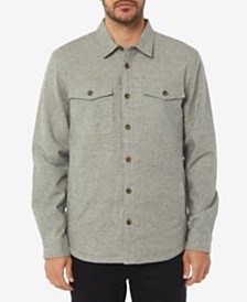 O'Neill Men's Gravel Standard-Fit Taffeta-Lined Flannel Shirt