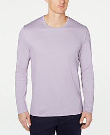 Tasso Elba Men's Long-Sleeve Crewneck T-Shirt, Created for Macy's