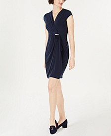 Petite Surplice Wrap Dress, Created for Macy's