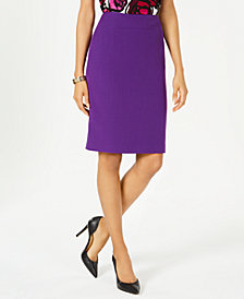 Kasper Back-Slit Pencil Skirt