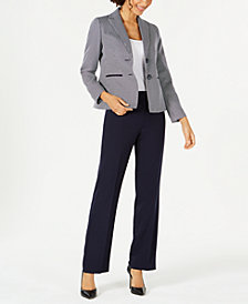 Le Suit Two-Button Printed Jacket Pantsuit