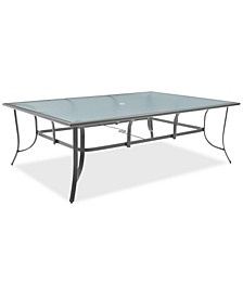 """Reyna Aluminum 84"""" X 60"""" Outdoor Dining Table, Created For Macy's"""