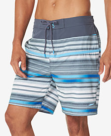 "Speedo Men's Striped 19"" Boardshorts"