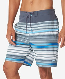 "Speedo Men's Striped 8"" E-Board Swim Trunks"