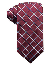 Club Room Men's Fenrow Classic Check Silk Tie, Created for Macy's