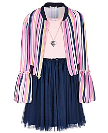 Beautees Big Girls 2-Pc. Bell-Sleeve Bomber Jacket & Dress Set