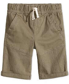 Epic Threads Little Boys Moto Twill Shorts, Created for Macy's