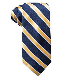 Club Room Men's Peabody Classic Stripe Silk Tie, Created for Macy's