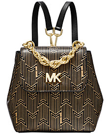 MICHAEL Michael Kors Mott Metallic Deco Convertible Backpack