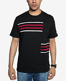 Sean John Mens Rib Insert Graphic T-Shirt