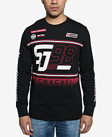 Sean John Mens Race Crew Graphic Shirt