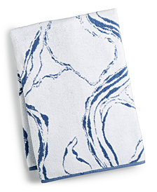Hotel Collection Marble Turkish Cotton Fashion Bath Towel, Created for Macy's