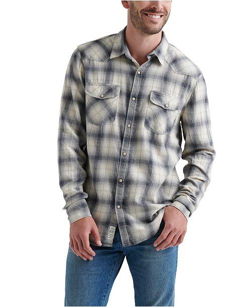 3e0ce9d73c Lucky Brand Men s Plaid Western Shirt  Lucky Brand Men s Plaid Western ...