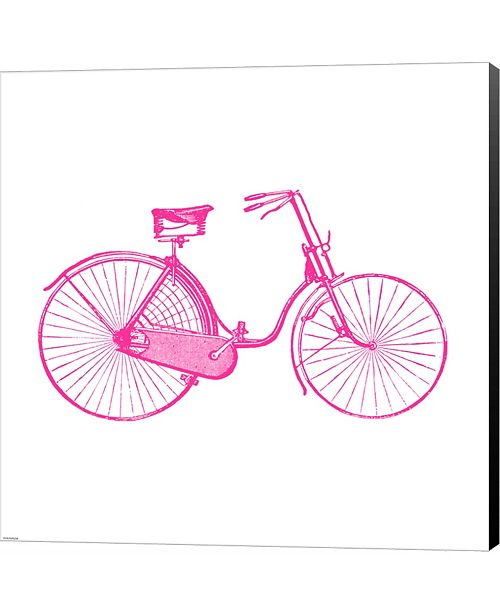 Metaverse Pink On White Bicycle by Veruca Salt Canvas Art - Wall Art ...