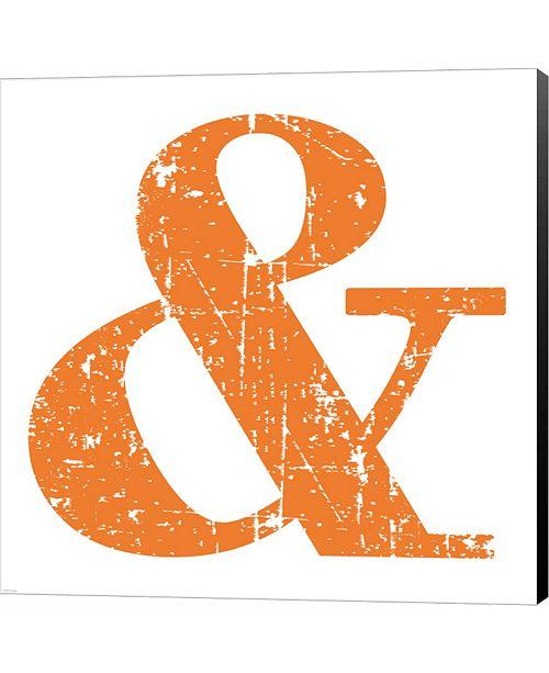 Metaverse Orange Ampersand by Veruca Salt Canvas Art