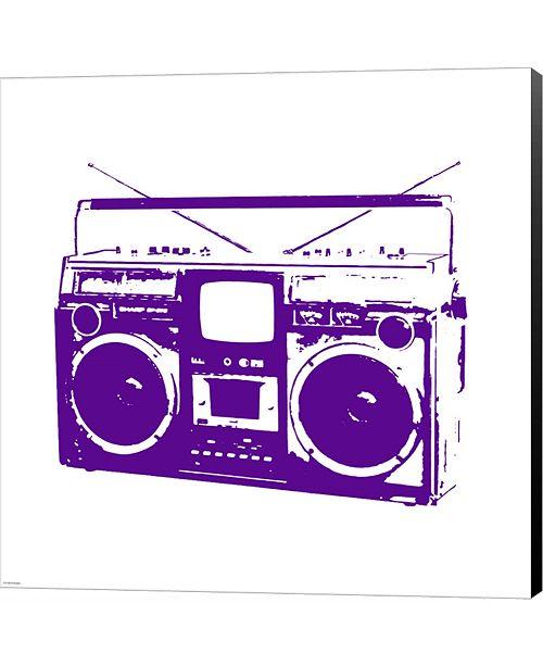 Metaverse Purple Boom Box by Veruca Salt Canvas Art