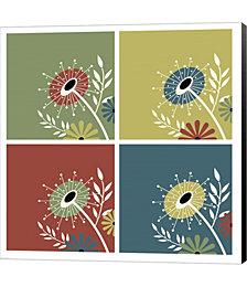 Autumn Flowers by Jennifer Nilsson Canvas Art