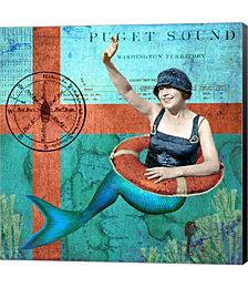 Puget Sound Mermaid by Sandy Lloyd Canvas Art