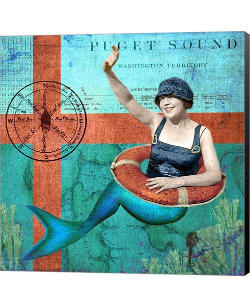 Metaverse Puget Sound Mermaid by Sandy Lloyd Canvas Art