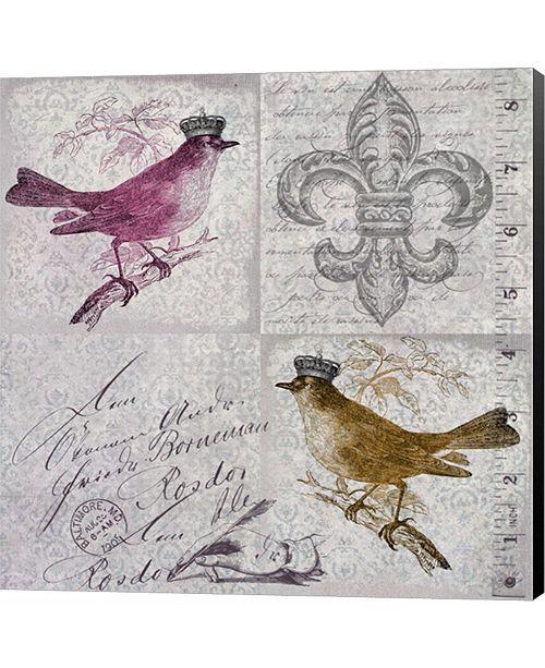 Metaverse Vintage Birds IV by Andrea Haase Canvas Art