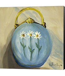 Purse Blue by Harriet Nordby Canvas Art