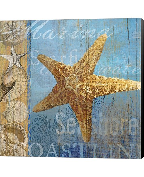 Metaverse Starfish and sea by Art Licensing Studio Canvas Art