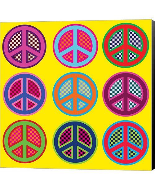 Metaverse Nine Patch Peace by Louise Carey Canvas Art