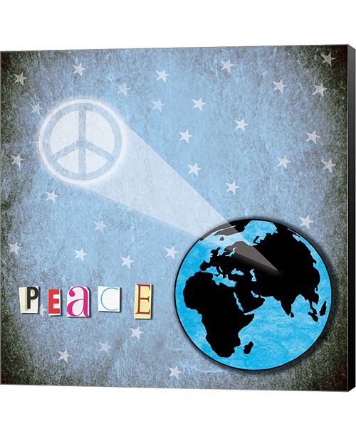 Metaverse Peace Earth by Louise Carey Canvas Art