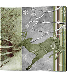 Country Christmas Deer by Color Bakery Canvas Art