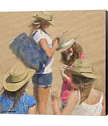 Girls on the Beach by Carlos Casamayor Canvas Art
