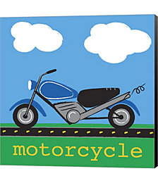 Motorcycle by Melanie Parker Canvas Art