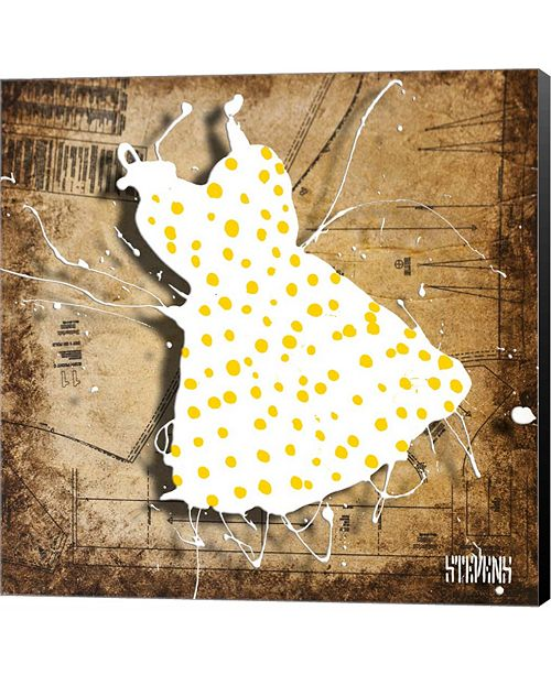 Metaverse Yellow On White by Roderick E. Stevens Canvas Art