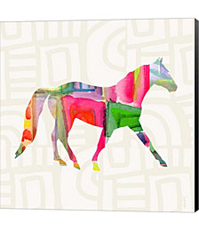 Colorful Horse I by Linda Woods Canvas Art