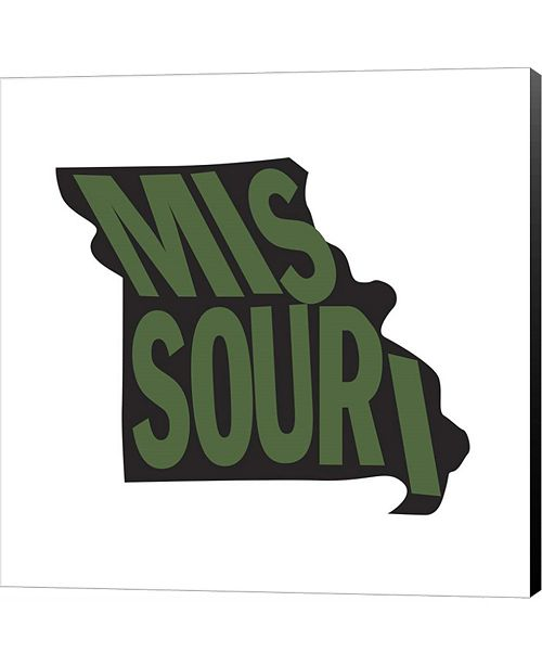 Metaverse Missouri Letters by Art Licensing Studio Canvas Art