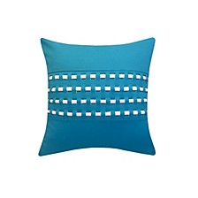 Woven Cord Outdoor Pillow Turquoise 18X18