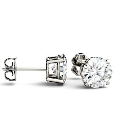 Moissanite Stud Earrings (3 ct. t.w. Diamond Equivalent) in 14k White or Yellow Gold