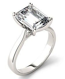 Moissanite Emerald Solitaire Ring (3-1/2 ct. t.w. Diamond Equivalent) in 14k White Gold