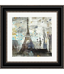 Eiffel Tower Neutral by Albena Hristova Framed Art